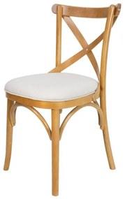 Cadeira de Jantar X Espanha Estofada Amêndoa Fosco - Wood Prime 38167
