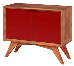 Buffet Uriel 2 Portas Natural e Vermelho - Wood Prime MP 27560