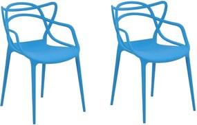 Kit 2 Cadeiras Decorativas Sala e Cozinha Feliti (PP) Azul - Gran Belo