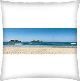 Almofada Colours Creative Photo Decor Praia da Barra no Rio de Janeiro - tamanho 45 x 45 cm Branco