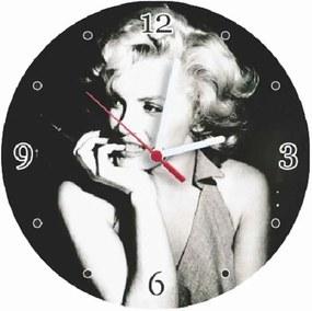 Relógio MDF Marilyn Monroe