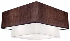 Plafon Para Banheiro Quadrado SB-3018 Cúpula Cor Café Branco