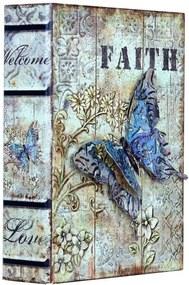 Book Box Faith com Borboleta Oldway - 24x18 cm