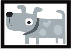 Quadro Decorativo Super Dog Cinza