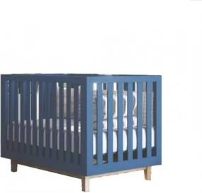 Berço Smart Baby Azul Navy base e pés Madeira Maciça