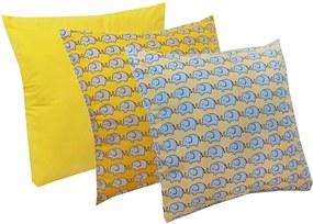 Almofada Amarelo, Elefante Amarelo e Azul 3 Peças