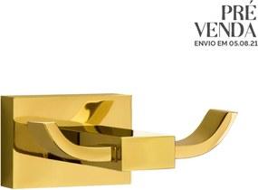 Cabide com Gancho Duplo (Mondrian Dourado)