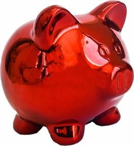Cofre cerÂmica metalizado - pig vermelho