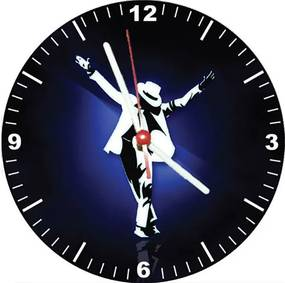 Relógio Decorativo Michael Jacson Blue