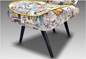 Poltrona para Sala de Estar com Pés Palitos Tathy Net Jornal 169  - Ibiza