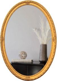 Espelho Decorativo com Bisotê Clássico Oval Ouro