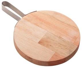 Tábua Para Queijo Madeira Com Alça Inox 20x2cm 13281 Woodart