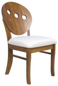 Cadeira Florence Imbuia Assento Estofado - Wood Prime LL 38062