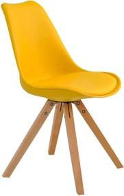 Cadeira Decorativa Sala e Escritório Neo (PP) Amarela - Gran Belo