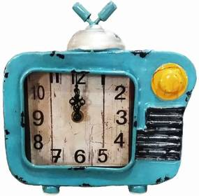 Relógio de Mesa TV Antiga Retrô