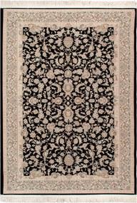 Tapete Iraniano Beluchi Preto com Floral Bege - 150x100cm