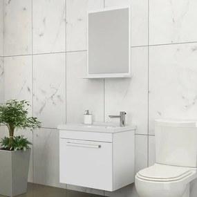 Kit para Banheiro com Espelheira, Toucador  e Cuba 45cm Branco - Ágata - Cozimax - Cozimax