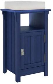 Balcão para Banheiro Mission com Porta e Nicho Azul (Cuba não acompanha o produto)- Wood Prime MR 34671