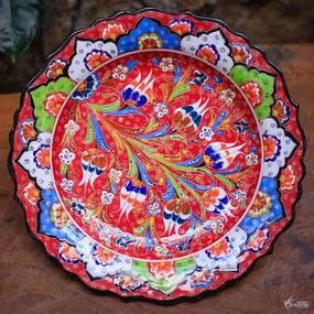 Prato Turco Colorido p/ Parede 30cm