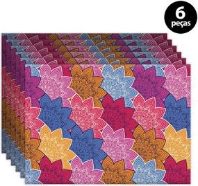 Jogo Americano Mdecore Geométrico 40x28cm Colorido6pçs