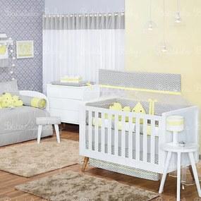 Quarto de Bebê Nuvem e Gotinha Amarelo 17 Peças