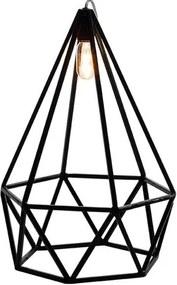 Luminaria Pendente Lume Estrutura Quadrado de Ferro cor Preto 35cm (LARG) - 54063 Sun House