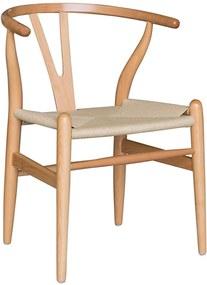 Cadeira Decorativa Sala de Jantar e Cozinha Bella Madeira Bétula Bege - Gran Belo