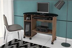 Mesa Para Computador Marrom e Preto Móveis Dalla Costa