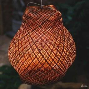Luminária Tikuna de Arumã Vermelho/ Cru