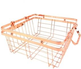Cesto De Metal Cobre 25,5X25,5X11,5 Cm