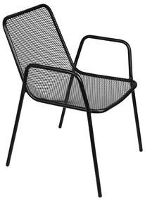 Cadeira Garden com Braço - Preta