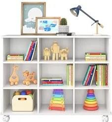 Nicho Organizador Multifuncional com Rodízios Toys Q01 Branco - Mpozen