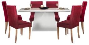 Conjunto Sala de Jantar Mesa Bonnie com 6 Cadeiras Embaú - Wood Prime 43025