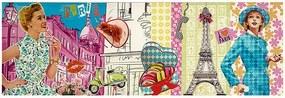 Tela Impressa Desenho Paris com Cores