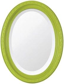 Espelho Oval Bisotê Verde Retrô Pequeno