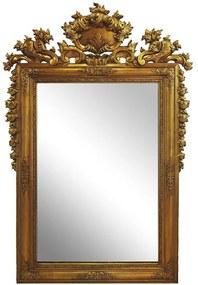 Espelho com Moldura Clássica Dourada Estilo Fracês