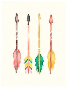 Quadro Decorativo Flechas Coloridas - KF 46883 40x60 (Moldura 520)