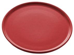 Jogo Pratos Sobremesa Cerâmica Vadim Vermelho 6 Peças 21cm 17687 Wolff