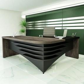 Mesa Para Escritório Em L Diretor  Artany  LE Terrano/Preto