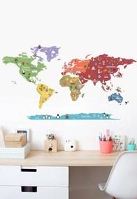 Adesivo Decorativo Stixx Mundo Discovery Vermelho