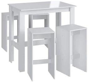 Mesa com Banquetas CJE112 Branco - Móveis Canção