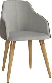 Cadeira de Jantar Martha Ta Cinamomo em Tecido Linho