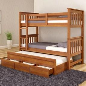 Treliche Londres com 3 Gavetas Madeira Maciça Bedroom -