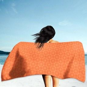 Toalha de Praia / Banho Bolas Laranjas Único