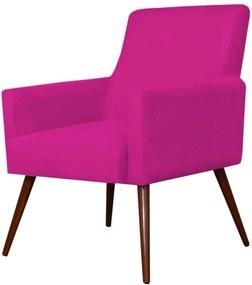Poltrona Decorativa Lyam Decor Maria Suede Pink