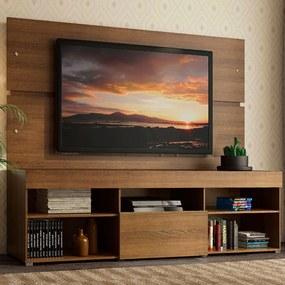 Rack com Painel Sobreposto para TV até 65 Polegadas Madesa Everest Rustic Cor:Rustic