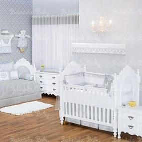 Quarto de Bebê Damask Cinza 16 Peças