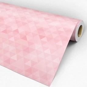 Papel de parede adesivo geométrico rosa