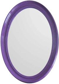 Espelho Contemporary Oval Roxo em MDF - Urban - 70x50 cm