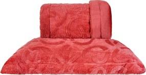 Cobertor Queen Slim Peles Dupla Face com Porta Travesseiro - Majestic Brique